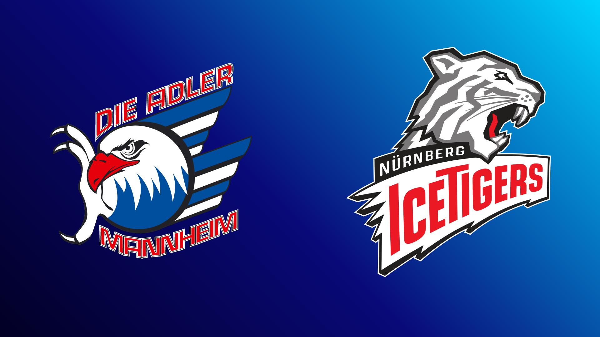 Adler Mannheim - Nürnberg Ice Tigers 01.03.2021 um 18:15 Uhr auf Magenta Sport